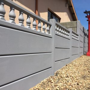Painted Plain Smooth Wall With Bottle Balustrades