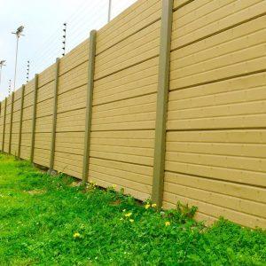 Painted Plain Brick Vibracrete Wall