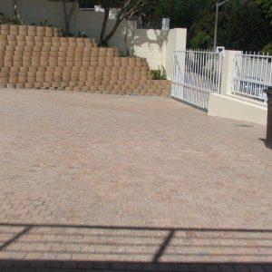 Sandstone Cobbles Installation