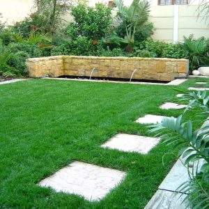 Stepping Path With Riven 450 Pavers