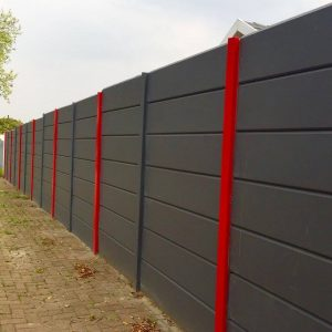 Painted Plain Smooth Vibracrete Wall