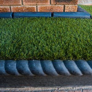 Rope And Log Edgings With Synthetic Grass