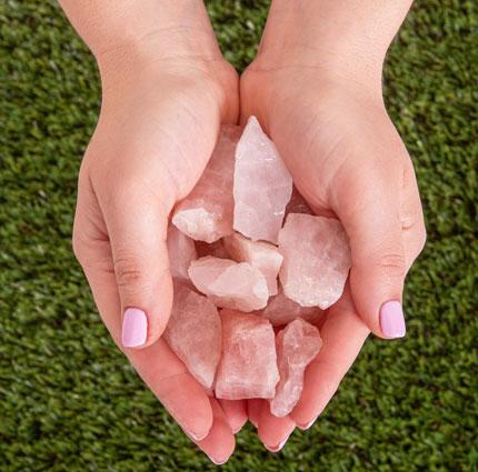 Rosequartz Stone Pink