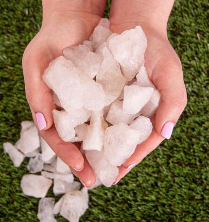 Rosequartz Stone White